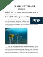 Prospek Arus Laut Sebagai Energi
