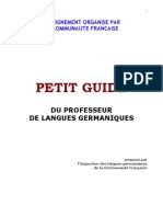 Petit Guide Prof Lang Germ