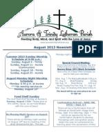 Aurora-Trinity Newsletter Aug13