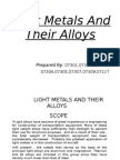 Light Metals and Their Alloys