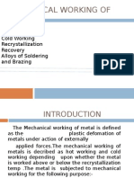 Mechanical Working of Metals