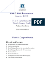 FNCE 30001 Week 8 Coupon Bonds