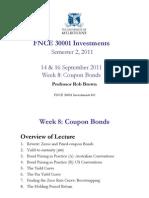 FNCE 30001 Week 8 Coupon Bonds