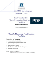 FNCE 30001 Week 9 Managing Fixed Income Portfolios