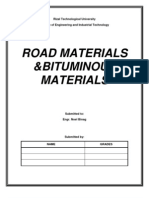 Road Materials & Bituminous Materials