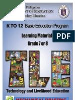 Ia- Mechanical Drafting Lm Grade 7 & 8 p & d