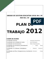 Plan de Trabajo de La Red Educativa 04 CCESA