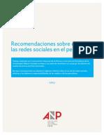 Recomendaciones sobre el uso de las redes sociales en el periodismo
