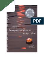Interpreter of Maladies -- Discussion Guide