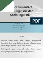 Perbezaan Antara Psikolinguistik Dan Sosiolinguistik