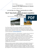 The 9th New Earth Expedition -  29 of July 2013, Novosibirsk, Siberia, Russia