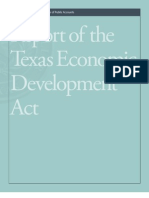 Texas Comptroller's Report on Econ Development Act