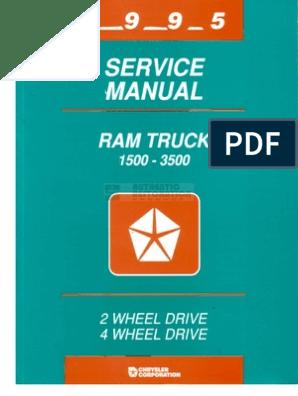 1995 Dodge Ram Service Manual pdf