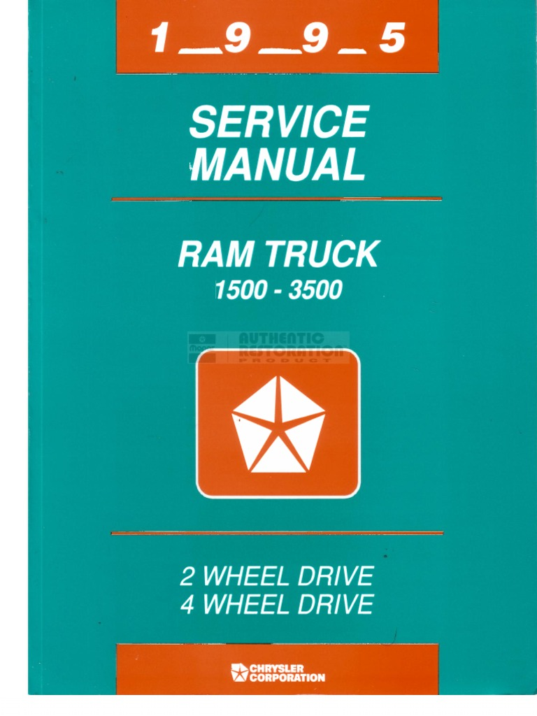 1995 Dodge Ram Service Manual Pdf Truck Trailer Vehicle