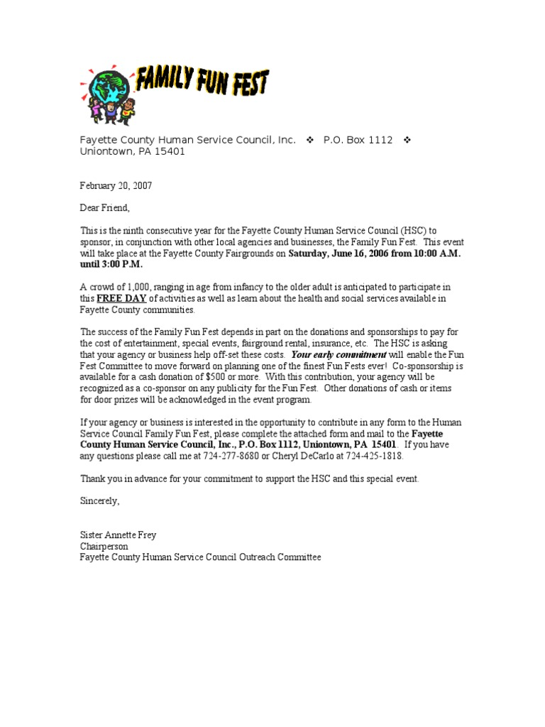 Sample Letter Requesting Donations For Benefit Fresh