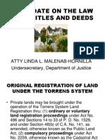 Usec Hornilla on Land Registration Law