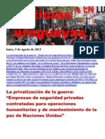 Noticias Uruguayas Lunes 5 de Agosto Del 2013