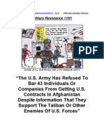 Military Resistance 11H1 Taliban on US Payroll