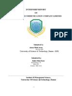 Internship Report Ptcl Tital Page