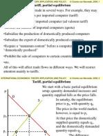 Tariff Partial