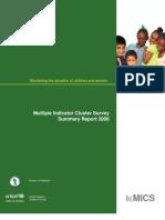 Guyana MICS Summary Report 2006