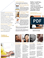 Pregnancy and Graduate School Flyer