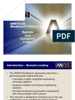 ANSYS 10.0 Workbench Tutorial - Exercise 4, Remote and Combined Loads