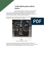 Conexion de Relevadores Para Activar Seguros Electricos