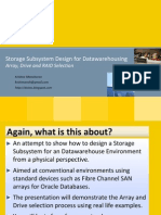 Storage Design for Datawarehousing