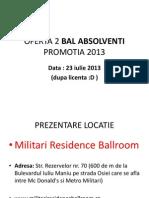 Oferta 2 Bal Absolventi Promotia 2013