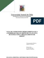Guía de condiciones medioambientales a considerar para el diseño de una planta de extracción y procesamiento de áridos, Tesis UACh