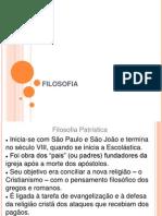 FILOSOFIA - Patristica, Escolastica, Renascimento