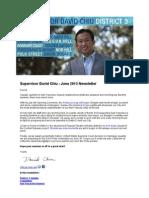 Supervisor Chiu June 2013 Newsletter