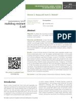 Fresh leafy green vegetables associated with multidrug resistant E.coli