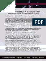 Ushl Awards Member Club to Madison for 2014-15 Season
