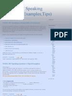 TOEFL IBT Speaking (Questions,Examples,Tips)