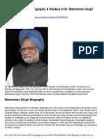 Pm DR Manmohansingh