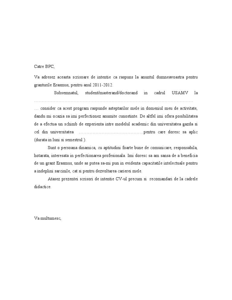 scrisoare de intenție pentru pierderea în greutate consultant