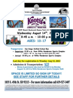 Knotts Berry Farm 2013 Flyer