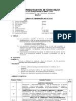 Silabo Yacimientos Minerales Metalicos. 2009-i Ing. Jorge w. Rodriguez Deza Docente