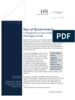 Size of Government - A Perspective on the Fundamental Washington Divide