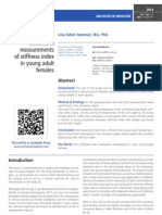 Quantitative ultrasound measurements of stiffness index in young adult females