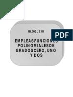 Bloque 3 (Funciones Polinomiales de Grados Cero, Uno y Dos
