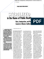 Sterelized in the Name of Public Health 2005