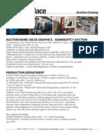 Delta Graphics | Printing Equipment Auction Catalog