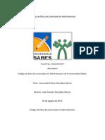 Código de ético de Licenciados en Administración de la Universidad Sabes.