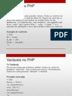 7 - Compreender as Variaveis No PHP