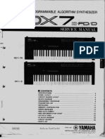 Yamaha DX7 II FD Service Manual