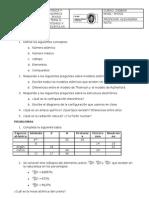 Examen Física 3º ESO - Átomos y moléculas