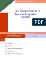 Fundamentos de La Teoria de Lenguajes Formales